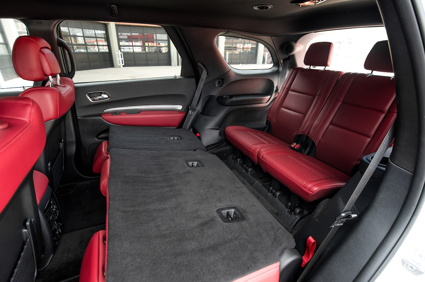 2018 Dodge Durango Interior Middle Seats Folded Motor Trend