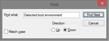 Nhập dòng lệnh dưới đây vào khung Find what rồi click chọn Find Next