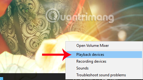 Nhấn Playback devices