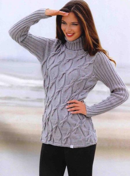 Suéter con una trenza patrón
