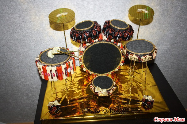 Барабанная установка из конфет