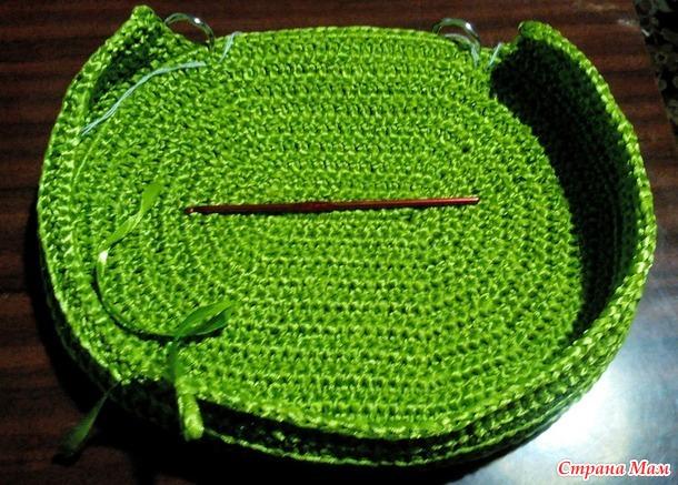 сумочка из атласных лент для доченьки