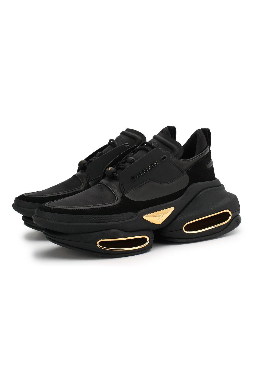 Женские черные кожаные кроссовки bold BALMAIN — купить за ...