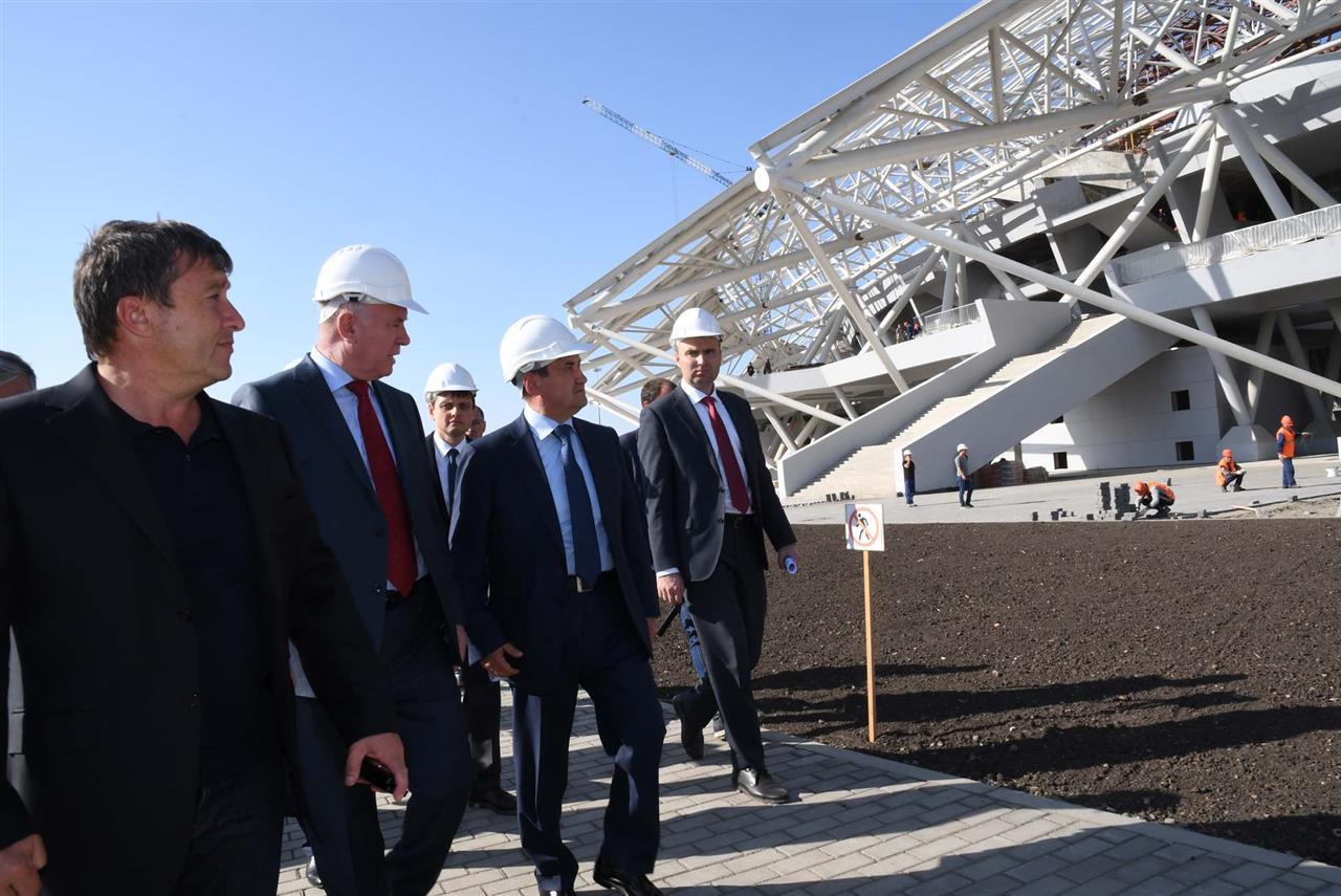 Помощник Президента Российской Федерации Левитин посетил стройплощадку стадиона «Самара Арена»