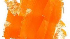 Como obter tinta laranja