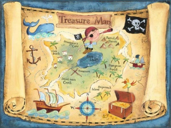 make a kids treasure map path decorations pictures full path