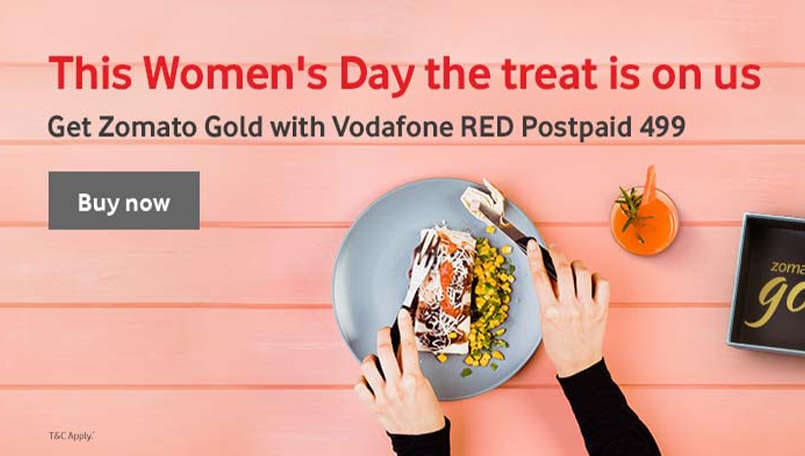 Vodafone now offers free Zomato Gold subscription with its postpaid plans worth more than Rs 499