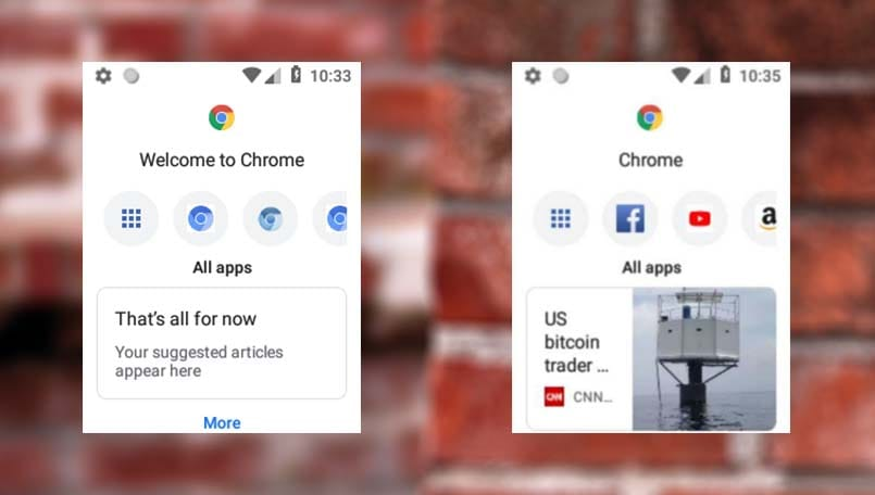 New screenshots of Google Chrome confirm 'touchless' Android Oreo-based OS