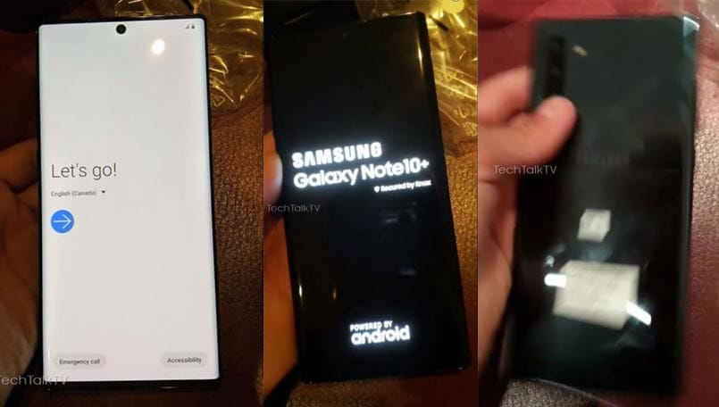 Samsung Galaxy Note 10+ hands-on images leaked showing new design