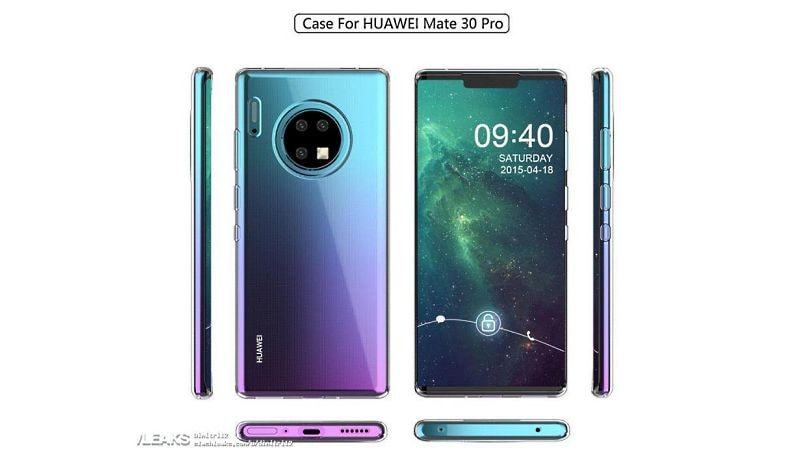 Huawei Mate 30 Pro, Mate 30 case renders leaked; tips circular camera module instead of square