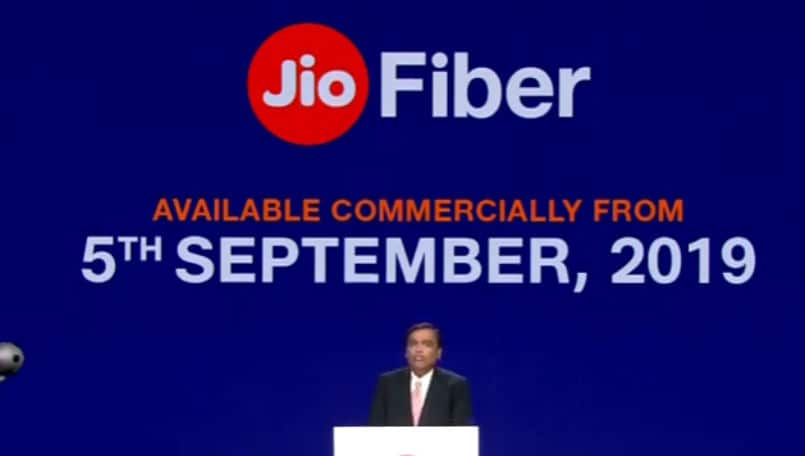 Reliance JioGigaFiber commercial launch on September 5, plans will start from Rs 700 per month