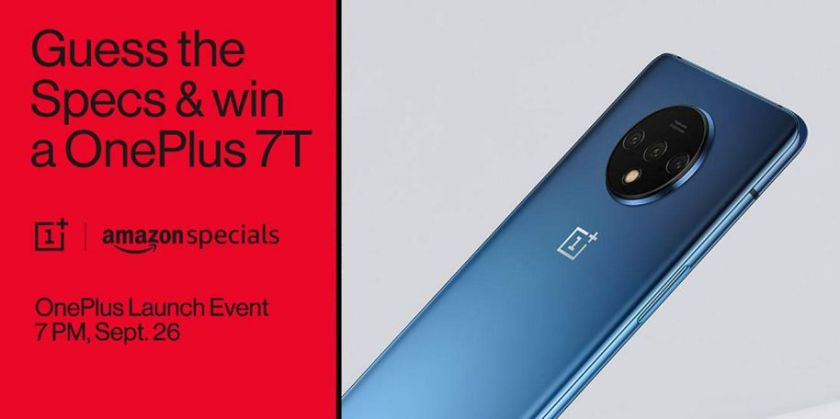 OnePlus 7T gets listed on Amazon India ahead of September 26 launch