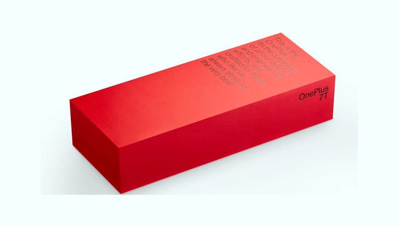 OnePlus 7T new Red retail box packaging teased officially, launch on September 26