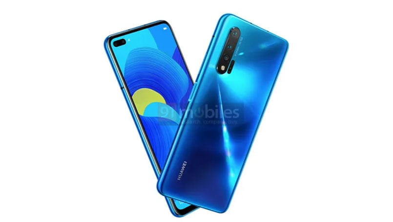 Huawei Nova 6 5G renders surface online with dual selfie cameras and a punch-hole display