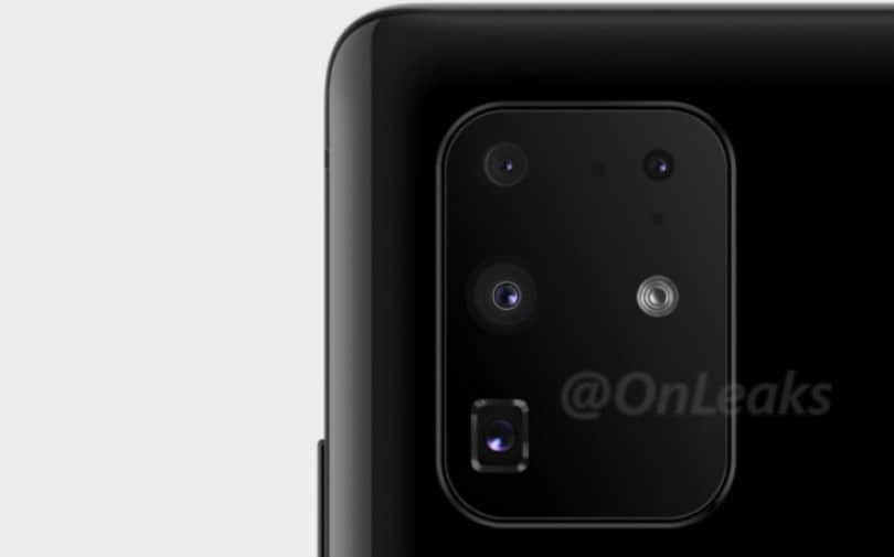 Samsung Galaxy S11+ render shows offer quad cameras with periscope style zoom lens