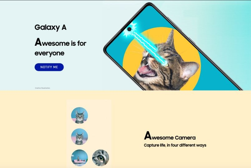Samsung Galaxy A51, Galaxy A71 India launch imminent as 'Notify Me' page goes live