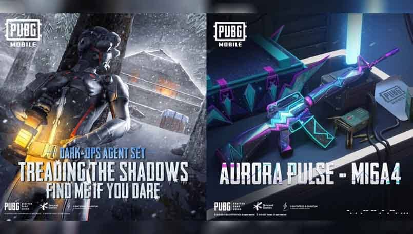 PUBG Mobile: Dark-Ops Agent and Aurora Pulse M16A4 now available in the game