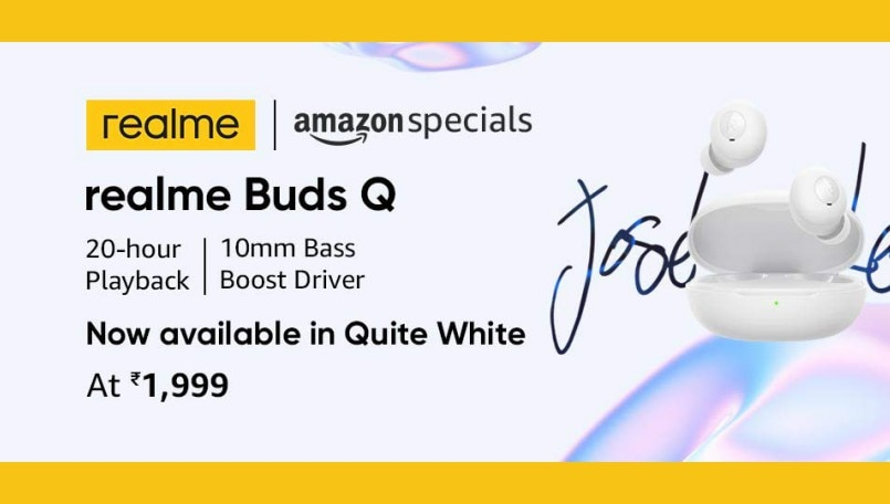 Realme Buds Q in 'Quite White' color option now available on Amazon India