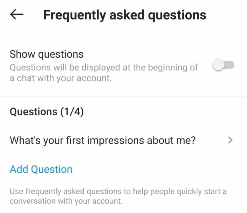 Instagram Frequently Asked Questions D