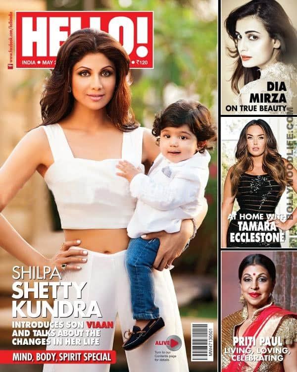 Shilpa Shetty and son Viaan Raj Kundra on the cover of Hello! magazine: Cute!