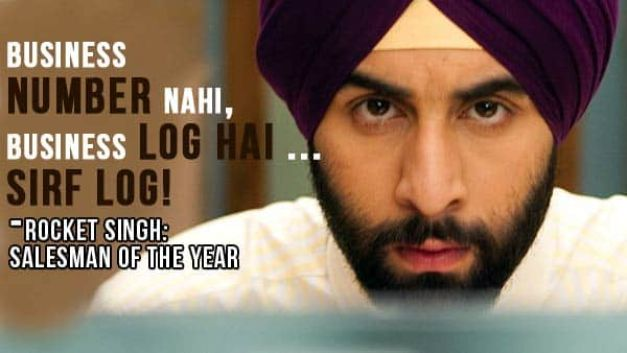 Rocket Singh - Salesman of the year - bollywood movies for entrepreneur