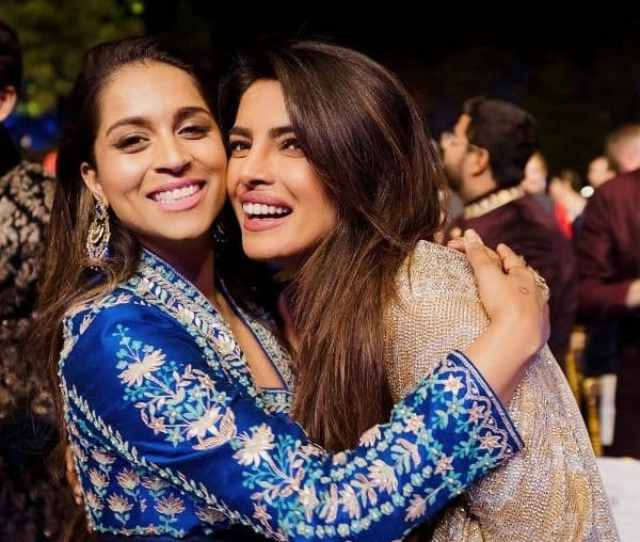 Just Two Desi Girls Living Life Lilly Singh Shares A Candid With Priyanka Chopra From The Nickyanka Wedding And Its All About Brown Girl Loving View