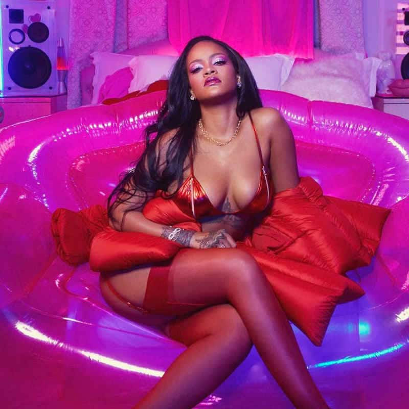 Rihanna In Red Bikini 2