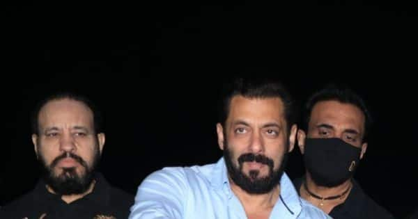 Salman Khan celebrates his birthday with media persons at his Panvel farmhouse