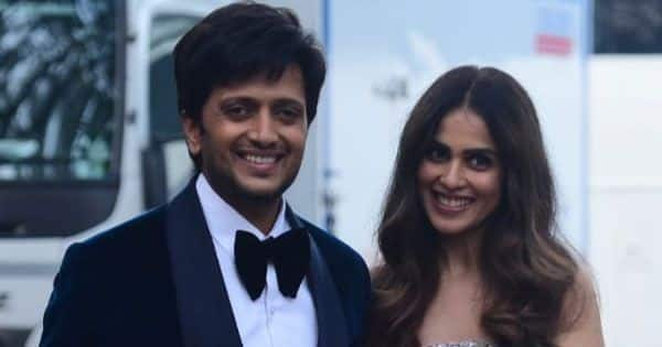 Genelia D'Souza turned princess while Riteish Deshmukh looked dapper as they are spotted shooting in the city – view pics