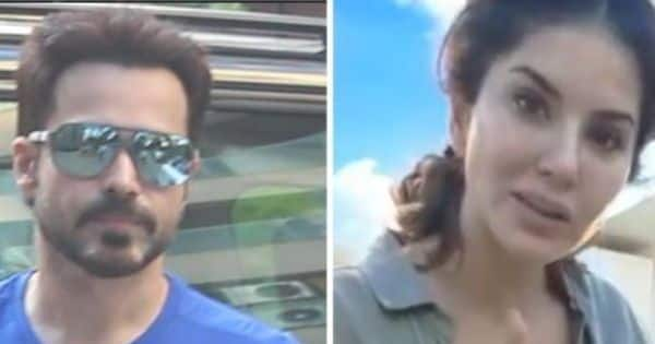 Emraan Hashmi clicked by the paps; Sunny Leone gorges on Pani Puri