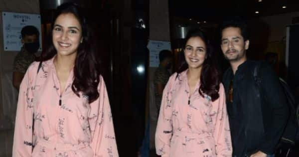 Jasmin Bhasin rocks a baby pink outfit as she is seen with Shardul Pandit in Juhu — view pics