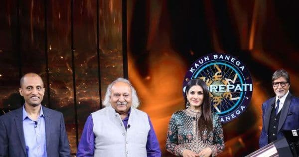 Amitabh Bachchan introduces the new Karamveers along with Raveena Tandon