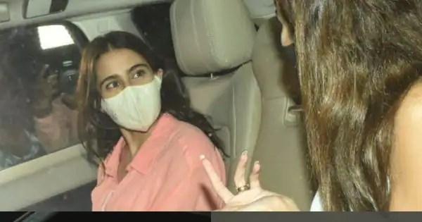 Sara Ali Khan, Ananya Pandey and Gauri Khan party at Karan Johar's house — view pics and videos