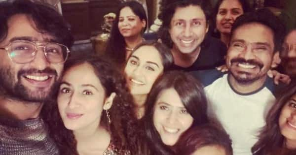 Newlyweds Shaheer Sheikh and Ruchikaa Kapoor have a reunion with Ekta Kapoor and others — view pics
