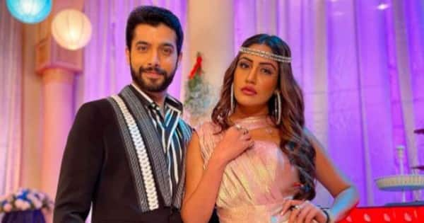The Naagin actor turns goofy with Surbhi Chandna and poses for the camera