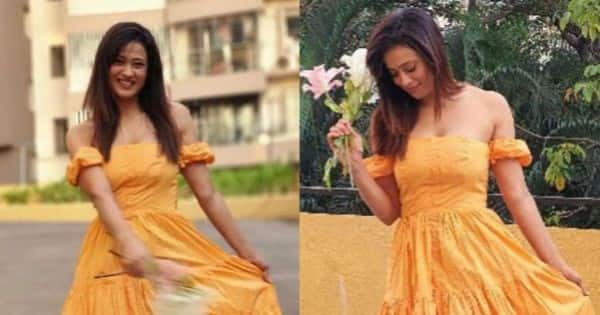 Shweta Tiwari looks like Belle from Beauty and the Beast in this pretty yellow outfit – view pics