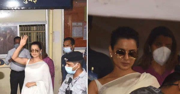 Kangana Ranaut and sister Rangoli Chandel arrive to record their statements at Bandra police station — view pics