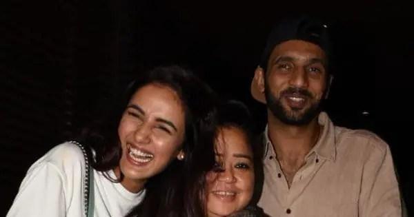 Bigg Boss 14's Jasmin Bhasin meets Bharti Singh, Haarsh Limbachiyaa, Punit J Pathak and Nidhi Moony Singh for dinner