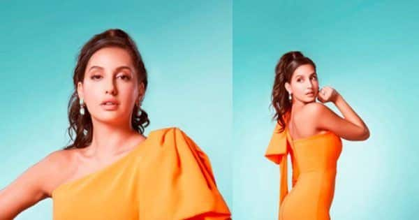 Nora Fatehi resembles a juicy mango drink in the summer heat courtesy her bewitching, fetching, ravishing outfit – view pics
