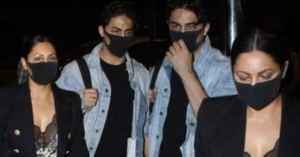 Shah Rukh Khan's wife Gauri Khan and her son Aryan Khan look very comfortable as they leave for New York to meet Suhana Khan – see photos