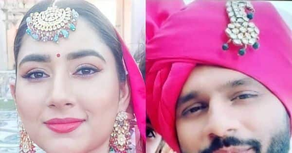 Bigg Boss 14's Rahul Vaidya and Disha Parmar's BTS pictures from their music video will leave you excited for their wedding