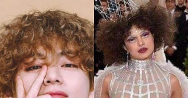 BTS: Kim Taehyung aka V's curly hair gets compared to Priyanka Chopra's MET Gala look