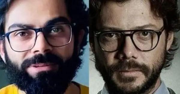 Netizens compare Virat Kohli's new look to Alvaro Morte's The Professor; suggest Anushka Sharma to buy the Hindi rights of the show