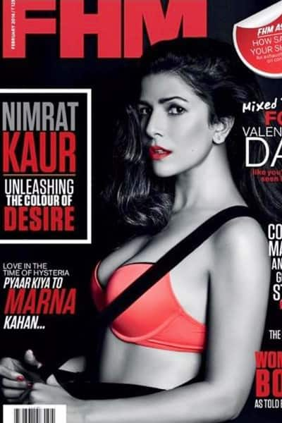 Nimrat Kaur on cover of FHM magazine