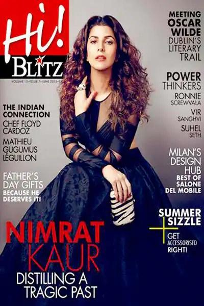 Nimrat Kaur on cover of Hi! Blitz magazine