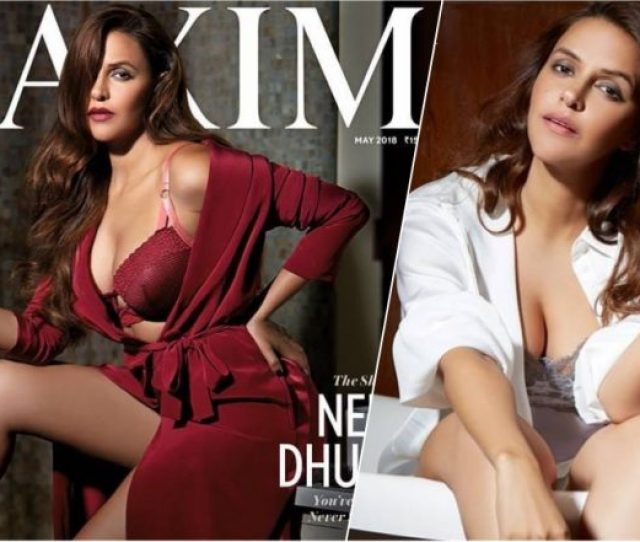 Neha Dhupia Turns Seductress In This Sexy Photoshoot For Maxim Shares Hot Pictures In Lingerie