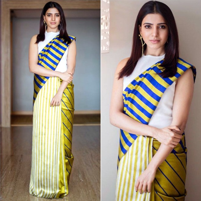 Image result for Samantha latest Saree instagram pics