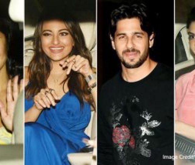 Sidharth Malhotra Birthday Bash Katrina Kaif Jacqueline Fernandez Sonakshi Sinha And Tara Sutaria