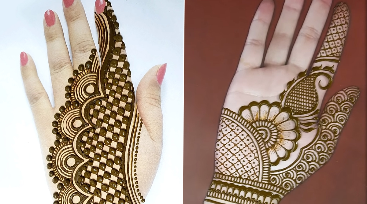 Bookmark these 15+ best back of the hand bridal mehendi designs for your wedding! Festivals Events News Front And Back Hand Mehndi Designs Simple And Easy Navratri 2021 Mehandi Design Images And Videos Latestly