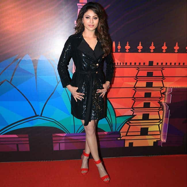 Urvashi Rautela wears sequin black overcoat for the unveiling of Miss India contestants